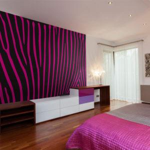 Papier Peint Panoramique Zebra pattern (violet)