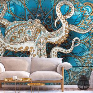 Papier Peint Panoramique Zen Octopus