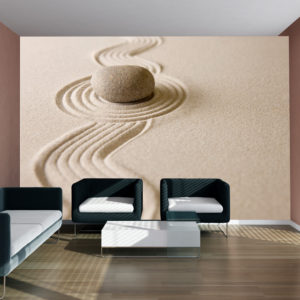 Papier Peint Panoramique Zen sand garden