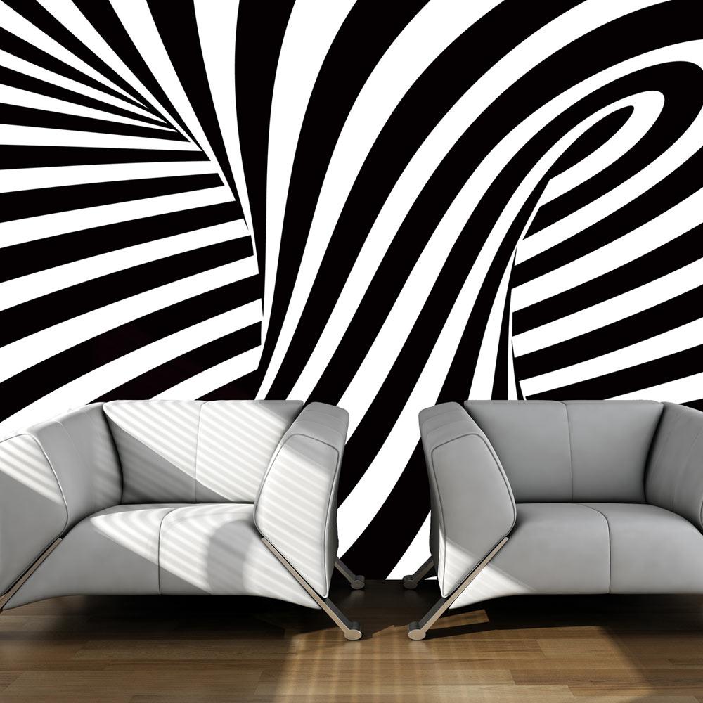 Papier Peint Panoramique Noir Et Blanc papier peint noir et blanc design - kumpalo