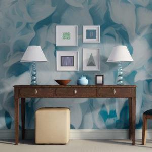 Papier Peint Panoramique azalée (bleu)