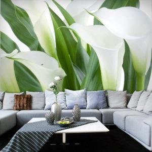 Papier Peint Panoramique bouquet de fleurs - callas
