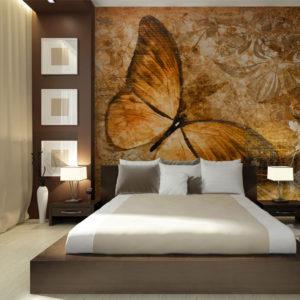 Papier Peint Panoramique butterfly (sepia)