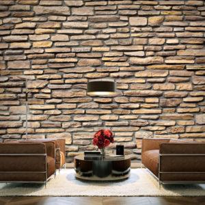 Papier Peint Panoramique imitation - pierre