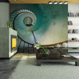 Papier Peint Panoramique phare - escaliers