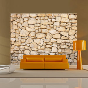 Papier Peint Panoramique trompe-l'oeil - pierre