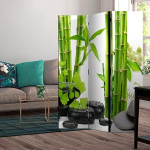 Paravent 3 volets - Bamboos and Stones séparateur de piece