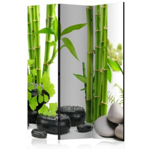 Paravent 3 volets - Bamboos and Stones