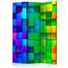 Paravent 3 volets - Colourful Cubes