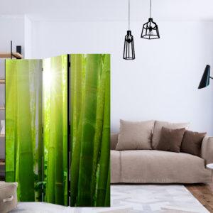 Paravent 3 volets - Sun and bamboo séparateur de piece