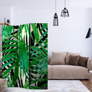 Paravent 3 volets - Tropical Leaves séparateur de piece