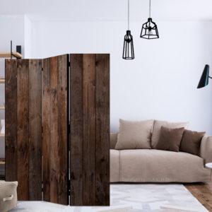 Paravent 3 volets - Wooden Hut séparateur de piece