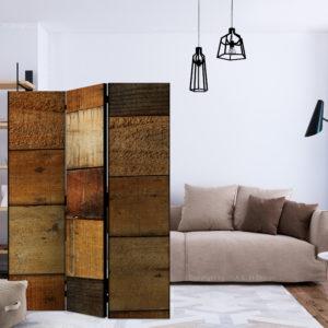 Paravent 3 volets - Wooden Textures séparateur de piece