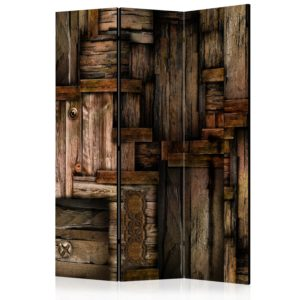 Paravent 3 volets - Wooden puzzle