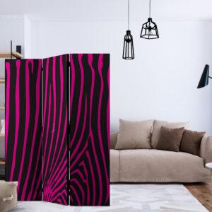 Paravent 3 volets - Zebra pattern (violet) séparateur de piece