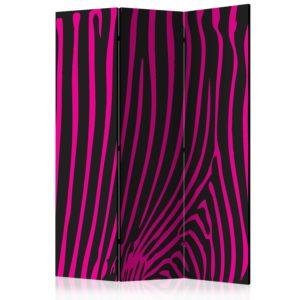Paravent 3 volets - Zebra pattern (violet)
