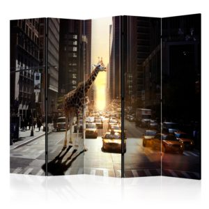 Paravent 5 volets - Giraffe in the Big City II