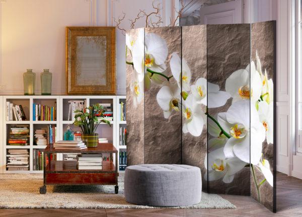 Paravent 5 volets - Impeccability of the Orchid II séparateur de piece