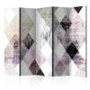 Paravent 5 volets - Rhombic Chessboard (Pink)