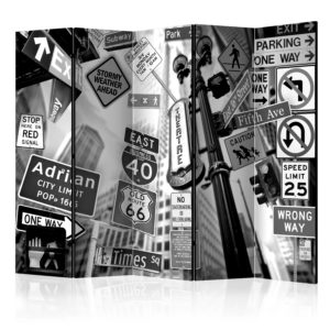 Paravent 5 volets - Roads to Manhattan II