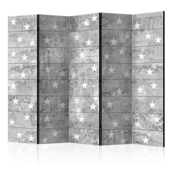 Paravent 5 volets - Stars on Concrete II