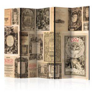 Paravent 5 volets - Vintage Books II