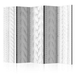 Paravent 5 volets - White Knit II