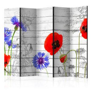 Paravent 5 volets - Wildflowers