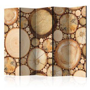 Paravent 5 volets - Wood grains