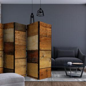 Paravent 5 volets - Wooden Textures séparateur de piece