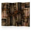 Paravent 5 volets - Wooden puzzle
