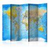 Paravent 5 volets - World Classic Map