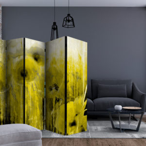 Paravent 5 volets - Yellow madness séparateur de piece