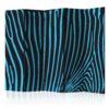 Paravent 5 volets - Zebra pattern (turquoise)