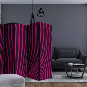 Paravent 5 volets - Zebra pattern (violet) séparateur de piece