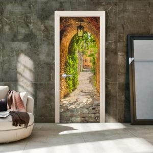 Papier-peint pour porte - Alley in Italy papier peint intissé originale pour les portes ( collection magnifique )