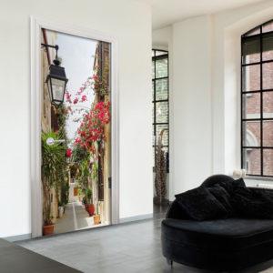 Papier-peint pour porte - Charming Avenue papier peint intissé originale pour les portes ( collection magnifique )
