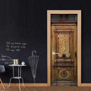 Papier-peint pour porte - Medieval Entrance papier peint intissé originale pour les portes ( collection magnifique )