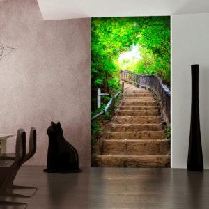 Papier-peint pour porte - Photo wallpaper – Stairs from nature I papier peint intissé originale pour les portes ( collection magnifique )