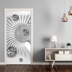 Papier-peint pour porte - Photo wallpaper - Black and white abstraction I papier peint intissé originale pour les portes ( collection magnifique )