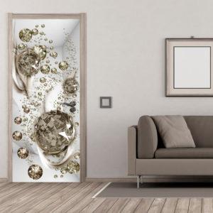 Papier-peint pour porte - Photo wallpaper - Bubble abstraction I papier peint intissé originale pour les portes ( collection magnifique )