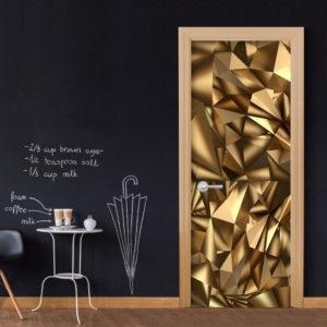 Papier-peint pour porte - Photo wallpaper - Golden Geometry I papier peint intissé originale pour les portes ( collection magnifique )