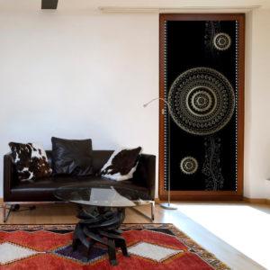 Papier-peint pour porte - Photo wallpaper - Pattern – circles I papier peint intissé originale pour les portes ( collection magnifique )