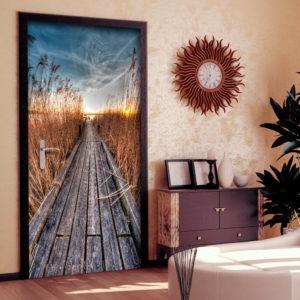 Papier-peint pour porte - Photo wallpaper - Pier on the lake I papier peint intissé originale pour les portes ( collection magnifique )