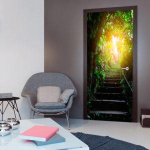 Papier-peint pour porte - Photo wallpaper - Stairs in the urban jungle I papier peint intissé originale pour les portes ( collection magnifique )