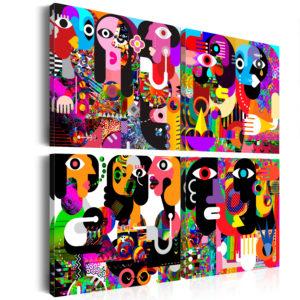 Tableau - Abstract Conversations fait partie des tableaux murales de la collection de worldofwomen découvrez ce magnifique tableau exclusif chez nous