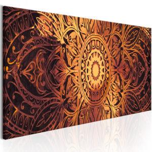 Tableau - Amber Mandala fait partie des tableaux murales de la collection de worldofwomen découvrez ce magnifique tableau exclusif chez nous