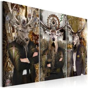 Tableau - Animal Trio (3 Parts) Brown fait partie des tableaux murales de la collection de worldofwomen découvrez ce magnifique tableau exclusif chez nous