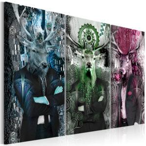 Tableau - Animal Trio (3 Parts) Colorful fait partie des tableaux murales de la collection de worldofwomen découvrez ce magnifique tableau exclusif chez nous