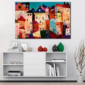 Tableaux > Paysages > Ville et village ce catalogue des tableaux déco pour tout types de murs et prêt à poser